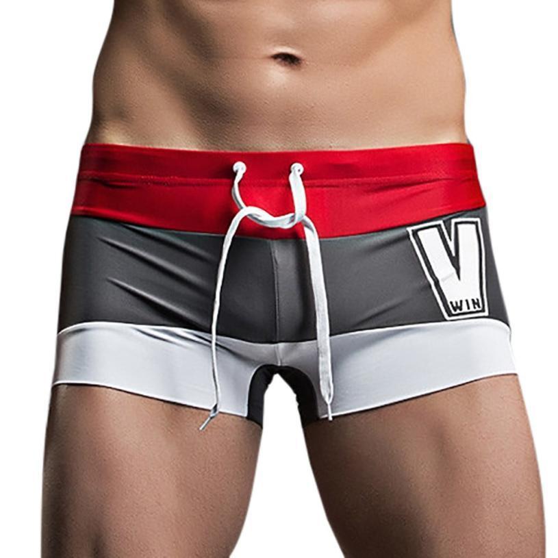 2ceeae9381 Mens Breathable Swim Trunks Pants Swimwear Shorts Slim Wear Bikini Swimsuit  Men's Briefs Mayo Swimming Trunks for men Beach Suit