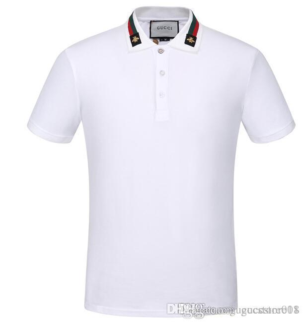 98b9f679cc 2019 Super Quality Fashion Italy Luxury Brand Polo T Shirt Fashion T Shirt  Short Sleeved Men Classic Polos France Style Embroidered POLO Shirt From ...