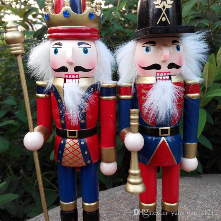 Manualidades de madera Cascanueces de Navidad Marioneta / Set Decoraciones navideñas Regalos de cumpleaños para niños Girl Place Arts Envío gratis