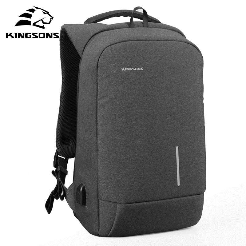 bc399f06848c Kingsons 13 15 Inch Men Laptop Backpack External USB Charge Anti Theft  Wearable Waterproof Backpacks Fashion Bags New Arrival Y1890401 Small  Backpack ...