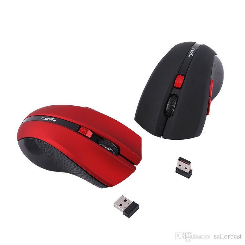 HXSJ X50 2.4 G беспроводная игровая мышь мыши регулируемая 2400 точек на дюйм с 6 кнопками эргономичный оптический офис ноутбук ПК ноутбук