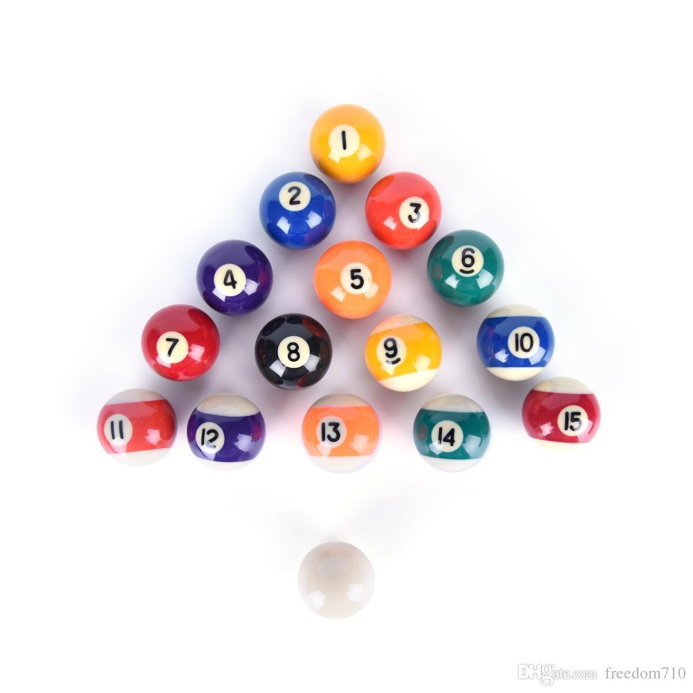 New 38mm Practice pool balls full set resin Billiard Training ball Table  Balls Cue ball for kids children
