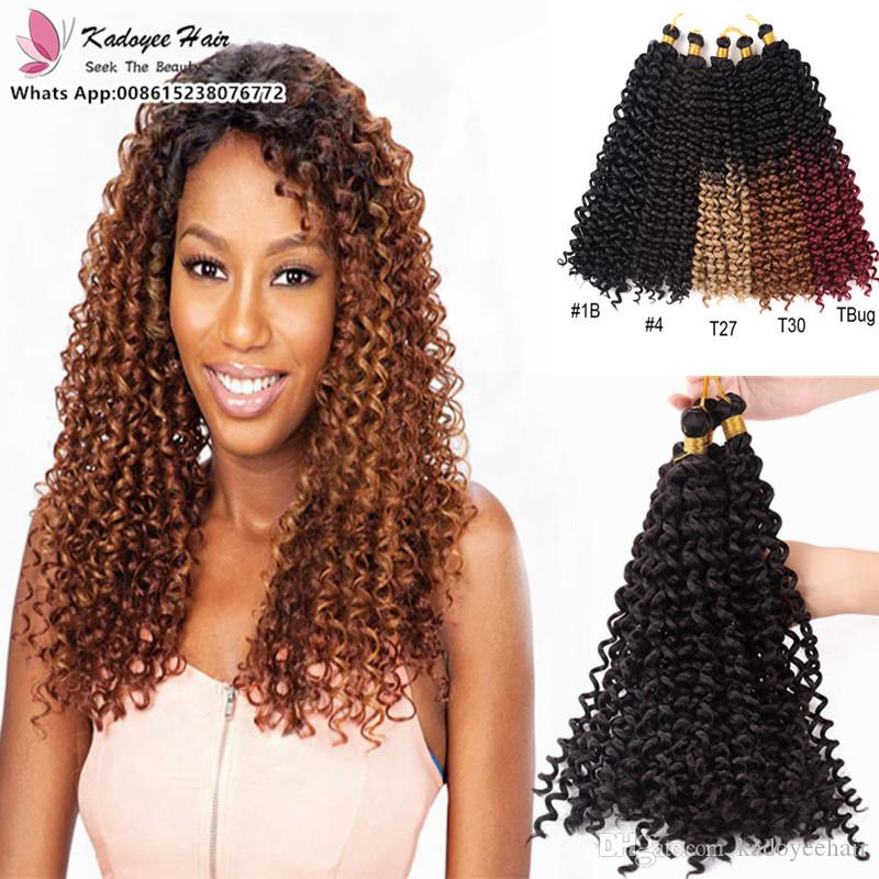 2018 High Temperature Fiber Snythetic Hair Kinky Curly Crochet