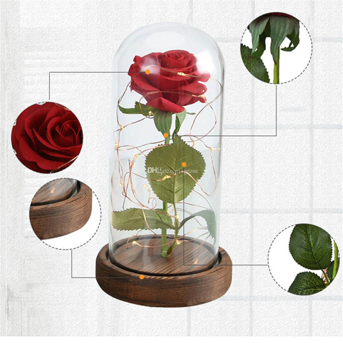 2018 new wr beauty beast red rose in a glass dome on a wooden base 2018 new wr beauty beast red rose in a glass dome on a wooden base for valentines gifts 0708174 from grose 2061 dhgate izmirmasajfo