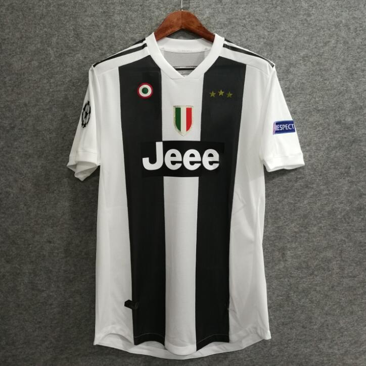 566e1bced 2019     18 19 UCL JuventUS Soccer Jersey Home Player Version RONALDO 7  DYBALA HIGUAIN 9 MANDZUKIC 17 Football Shirts Top Quaity Coppa Italia From  ...