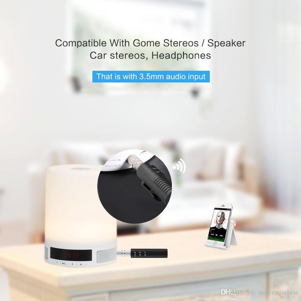 Adaptateur Bluetooth pour voiture Adaptateur sans fil Aux Jack 3.5mm Jack Adaptateur Bluetooth Audio Musique Kit voiture avec micro