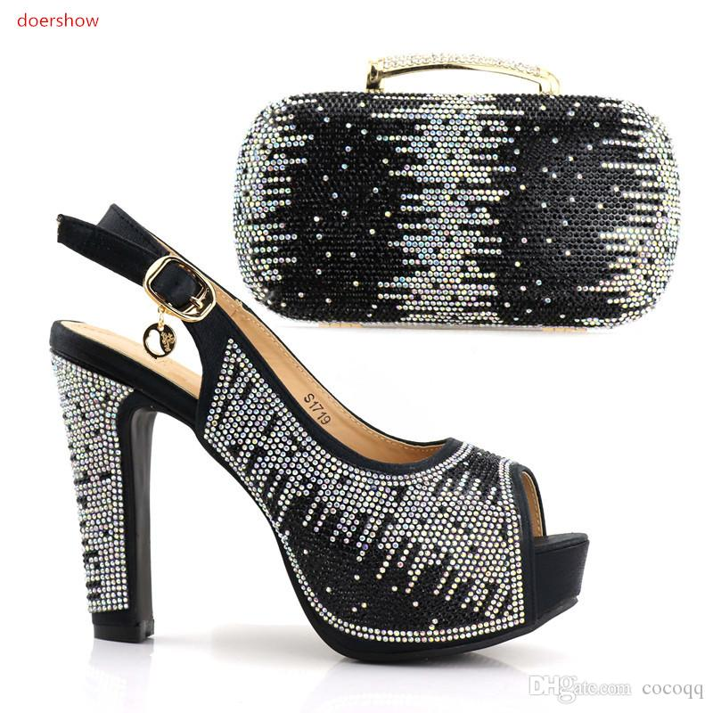2018 Fashion African Shoe And Bag Set