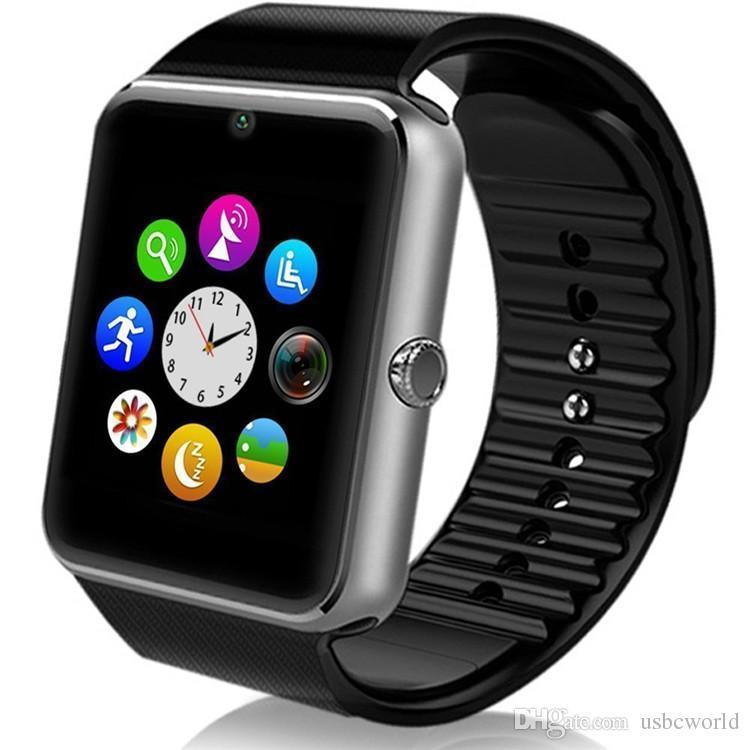 Smart Watch GT08 Bluetooth con ranura para tarjeta SIM NFC Health Watchs para Android Samsung y IOS Apple Iphone Smartphone Diseño de cuna