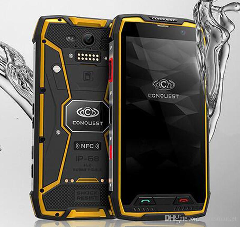 huge selection of ffafa 5a731 Original Conquest S11 Shockproof Smartphone IP68 Waterproof Phone 6GB 128GB  7000mAh PTT NFC Fringerprint OTG Rugged Phone