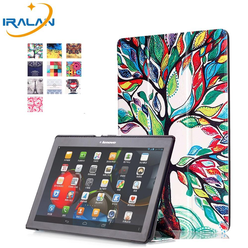 best sneakers c8275 d52c1 Hot smart color painting leather cover for Lenovo Tab 3 10 Plus TB-X103F  10.1 Tablet PC case for tab2 A10-70F stylus film