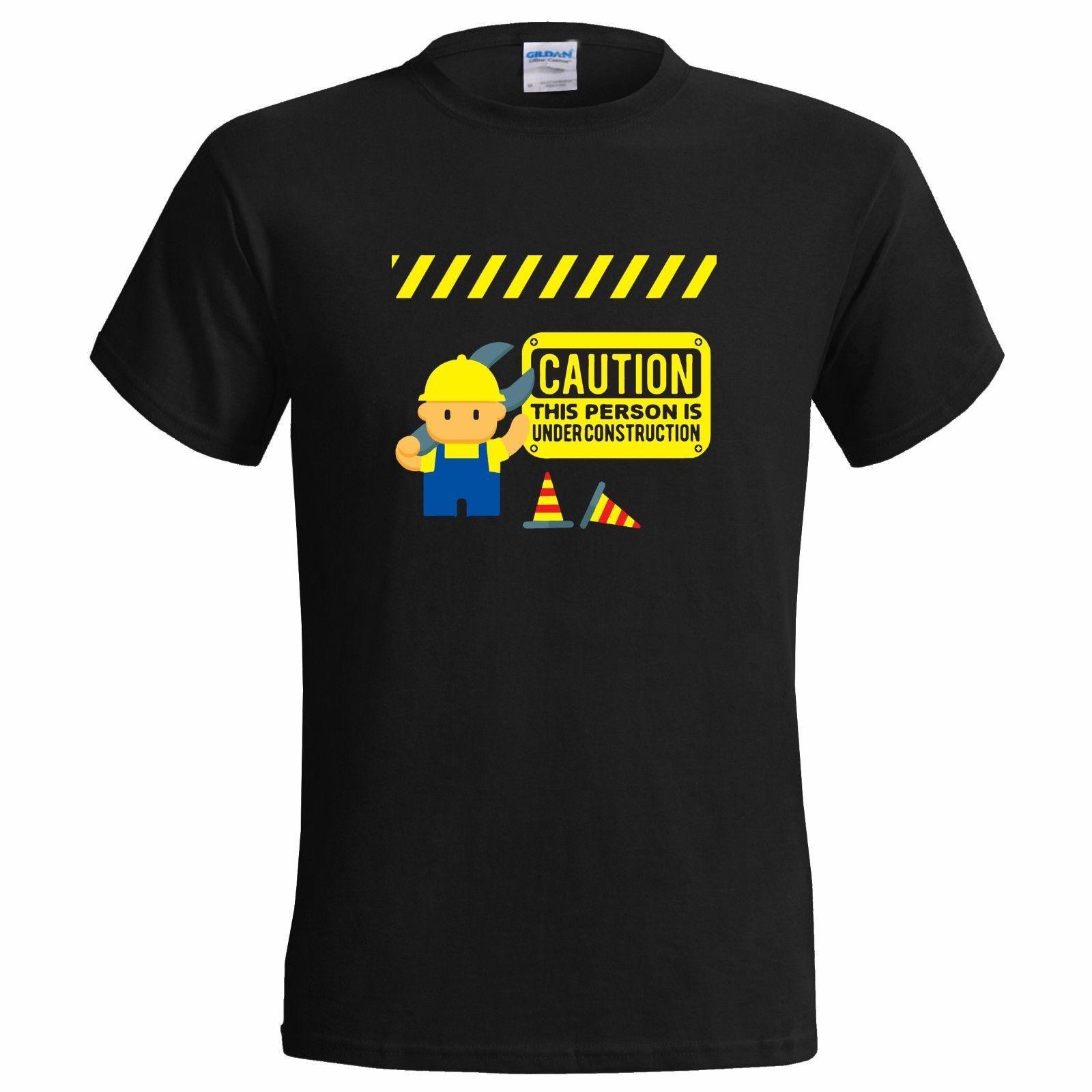 Großhandel Person Im Bau Lustige Herren Shirt Leben Frieden Bauer