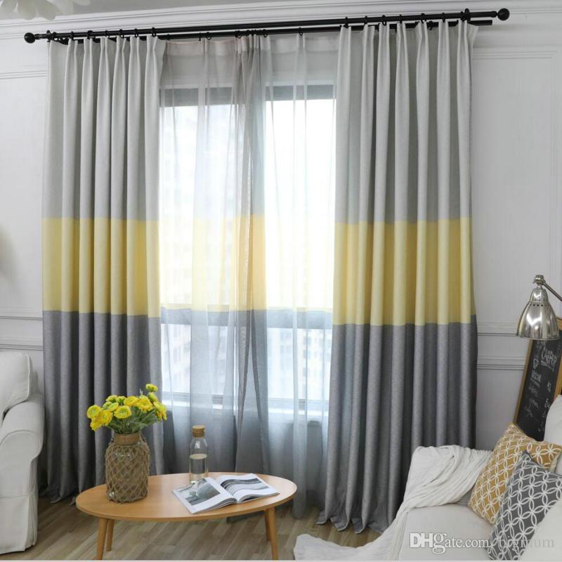 2019 Nordic Modern Gradient Blackout Curtains For Living