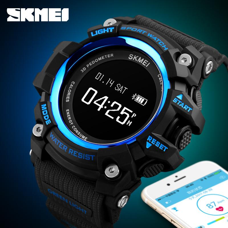 Herrenuhren Skmei Luxus Bluetooth Digitale Smart Uhr Sport Heart Rate Monitor Schrittzähler Uhr Bluetooth Männlichen Armbanduhr Relogio Inteligent