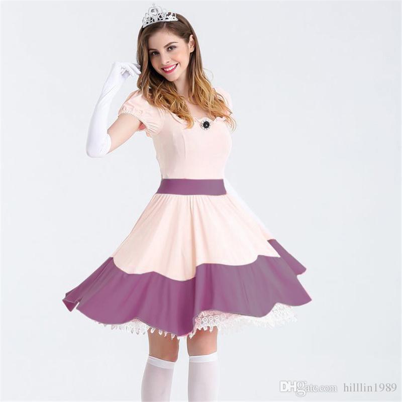 Sexy Princess Dress Fairy Tale Stage Performance Costume Purple Plus