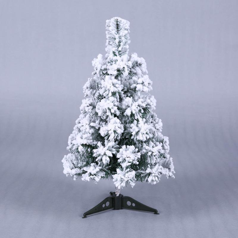 mini artificial christmas tree xmas tree 45cm new year home ornaments desktop decorations flocking snowflake christmas christmas lawn ornaments sale