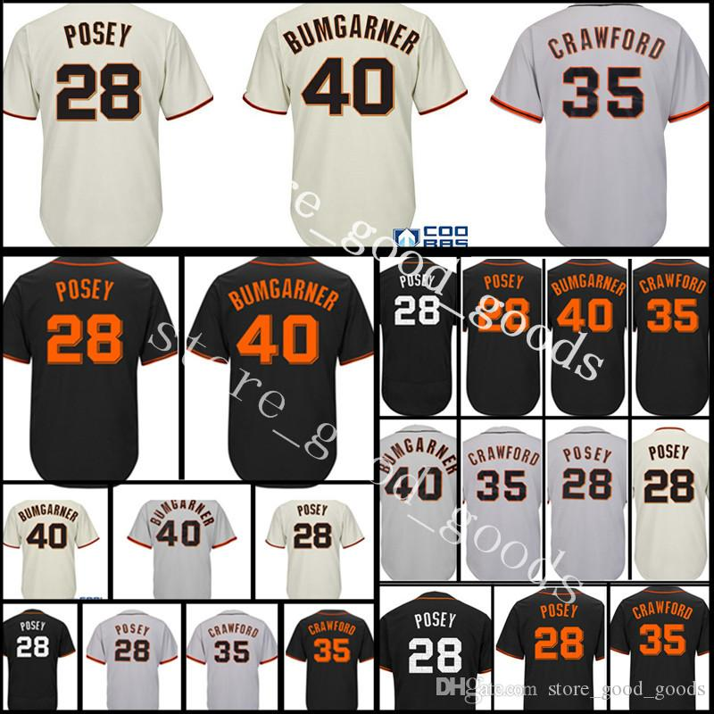 31967dca0 2019 Men S 28 Buster Posey 40 Madison Bumgarner 35 Brandon Crawford 100%  Stitched Jersey Cheap Wholesale M XXXL From Store good goods