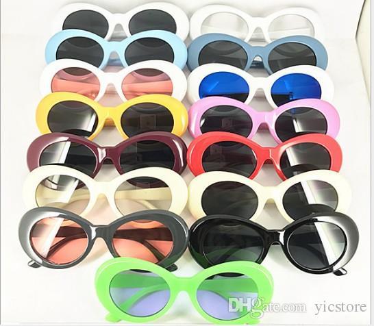 0d8e8b219e3 Clout Goggles NIRVANA Kurt Cobain Glasses Alien Sunglasses Classic Vintage  Retro White Black Oval Fashion Superstar Style Punk Rock Glasses Electric  ...