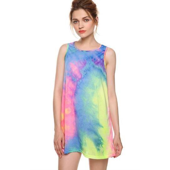 23f5bdfdfa70d Satın Al Yaratıcı Moda Basit Elbise Sonbahar Patlama Modelleri Avrupa Ve  Yeni Kolsuz Canlılık Kravat Boyalı Elbise Renk Yelek Etek, $4.33 |  DHgate.Com'da