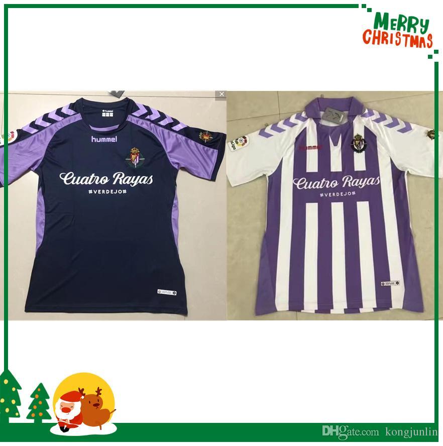 18 19 Camisetas De Fútbol De Valladolid 2018 2019 HOGAR De Distancia Real  Valladolid Jaime Mata Michel Borja Luismi Camisetas De Fútbol De Jaime Por  ... e89ea54f2220c