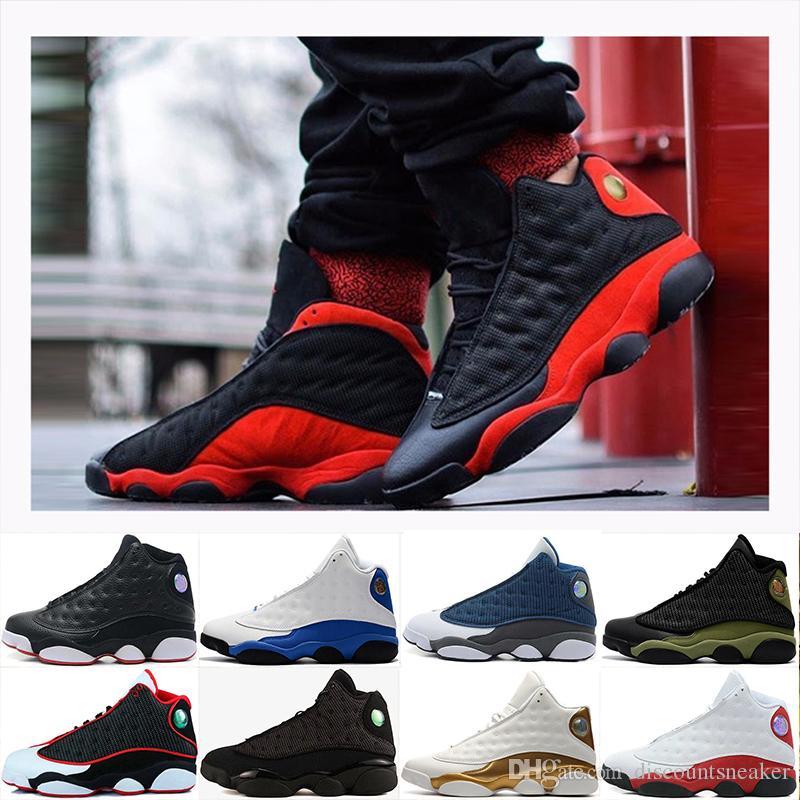 0cdafbaccbf 2018 13 XIII Basketball Shoes Men 13s Hyper Royal Black Cat Bred ...