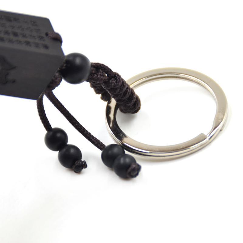 열매 1 조각 부처님 하트 경내 흑단 나무 사각 열 키 체인 열쇠 고리 자동차 가방 장식 매달려