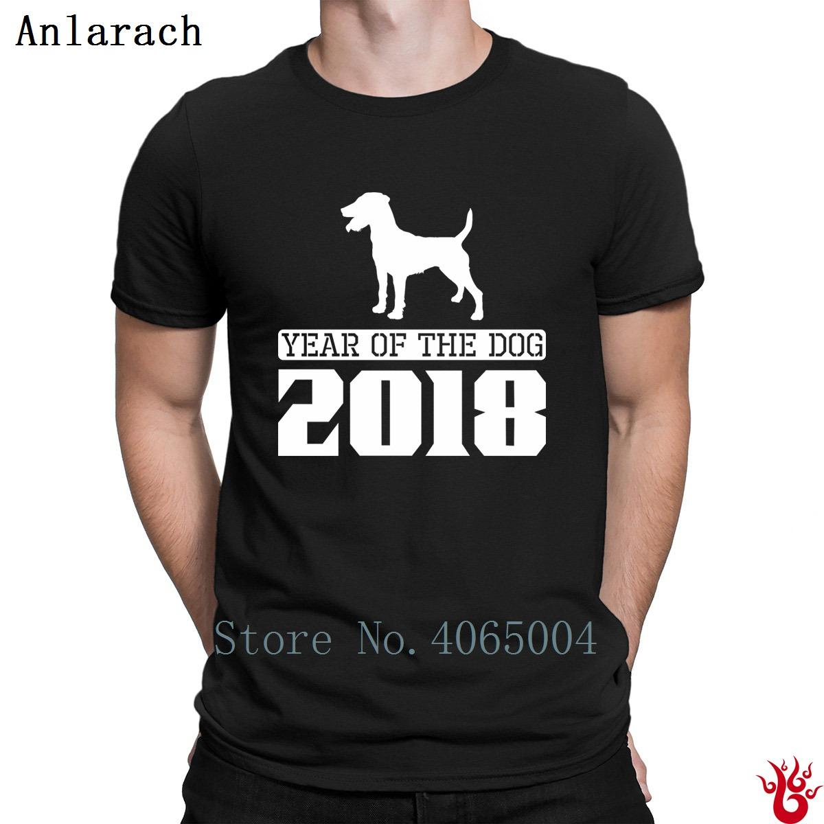Patterdale Year Of The Dog 2018 T-Shirt Hip Hop Design Sunlight Costume Tshirt per uomo 2018 S-Xxxl Humor 100% cotone formale