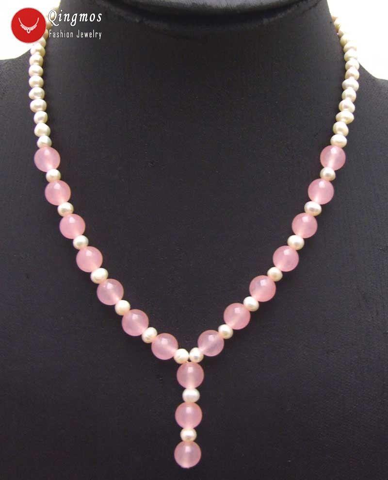 Vente Pour Femmes '' Pendentif 17 Gros Blanches Jades Avec 7mm Collier De 6 Rondes Naturel En Rose Les Perles qSVMpzGU
