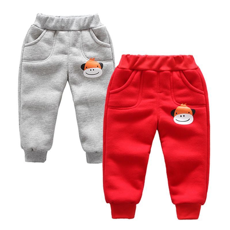 346daeadde669 Children's Pants Baby boy's girl's Thick Fleece Long trousers Kids Pants  Infant Winter Warm Velvet Leggings Boys Clothes
