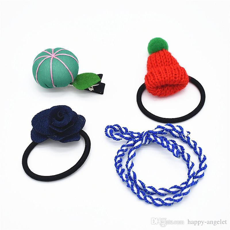 Ribbon Bowknot Hair Ropes Rubber Band Cute Hat Flower Clip Hair Ties Bow  Elastic Girls Hair Accessories HD122 Wholesale Hair Accessories Buy Hair ... 437682be4b5