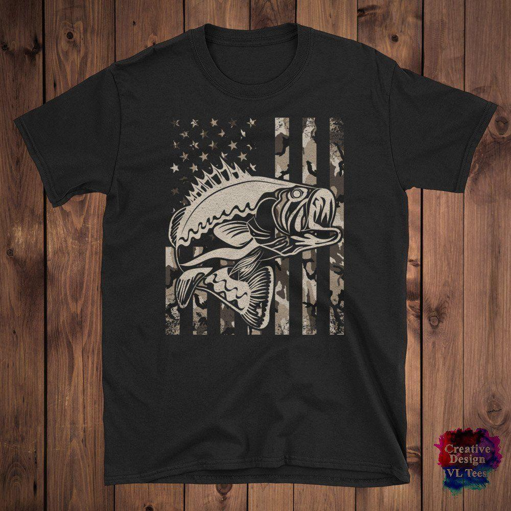 Download Fishing T Shirt With American Flag, Fishing Gifts Idea For ...