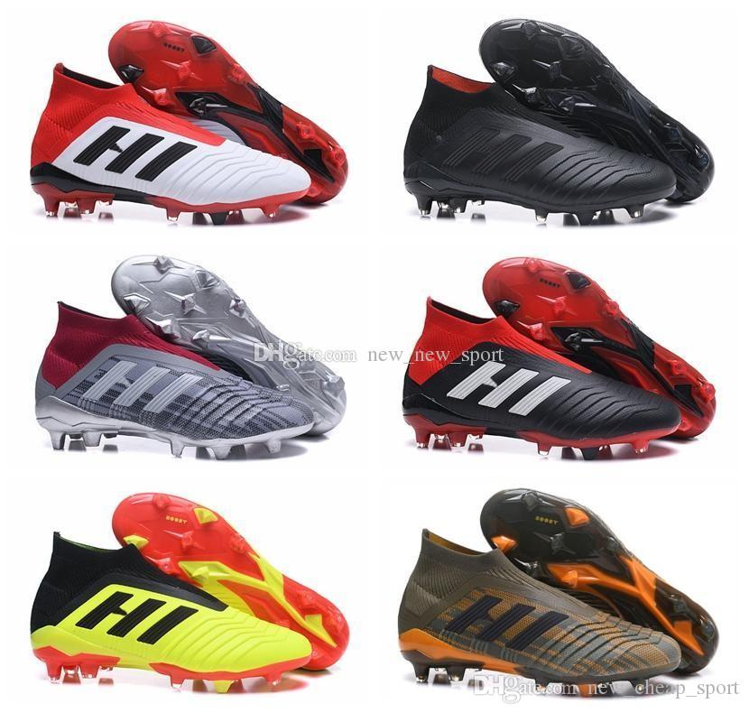 4160a3e3282 Mens High Ankle Youth Football Boots Predator 18+x Pogba FG Accelerator DB Kids  Soccer Shoes PureControl Purechaos Soccer Cleats for women