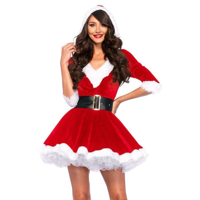 Immagini Natale Donne.Le Donne Sexy Costumi Di Babbo Natale Vestito Da Natale Cosplay Costume In Maschera Costume Performance Abiti Abiti Di Natale