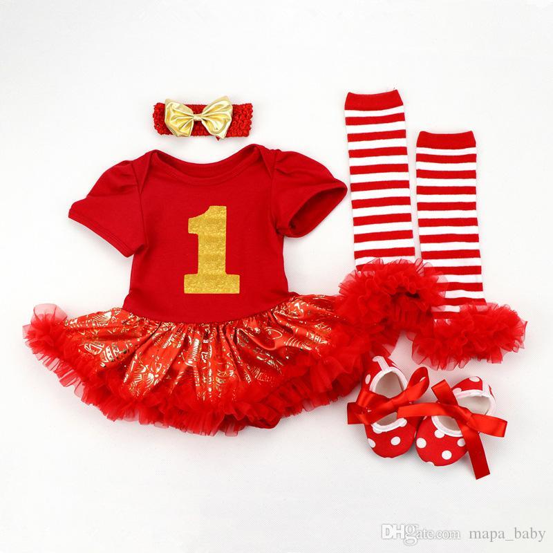 9d0bfc615 Christmas Baby Romper Cotton Pajamas Girls Dresses Romper Xmas Santa ...