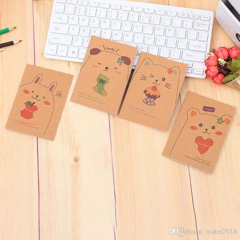 Cowhide Notebook Paper Blank Notepad Book Vintage Kraft Paper Easy To Carry Small Notebook Graffiti Sketch Creative Simple Stationery 23318