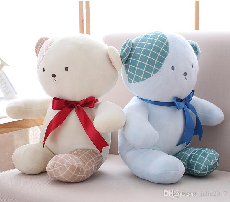 8021ae78805 2019 Cartoon Lovers Bear Short Plush Toy Stuffed Animal Doll Soft Plush  Pillow Birthday Gift For Children From Julie2017