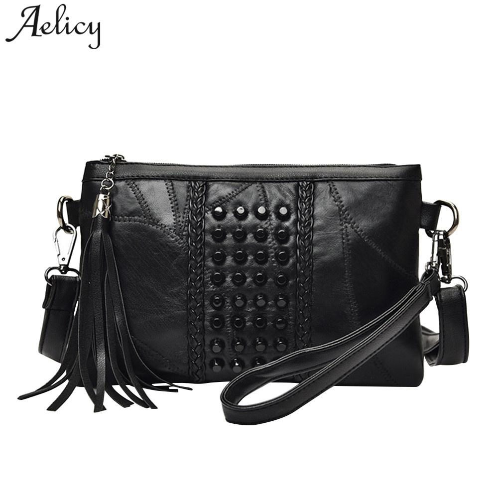 Aelicy Luxury Fashion Tassel Women s Bags Fringed Handbags Genuine ... 10826a8d5fb1a