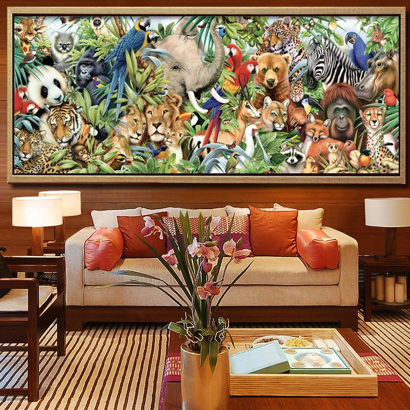 New 5D DIY Diamond Painting Zoo Animals Embroidery Full Square Diamond  Cross Stitch Rhinestone Mosaic Painting Home Decor Gift D18110104 Online  with ... 6645814ecabb