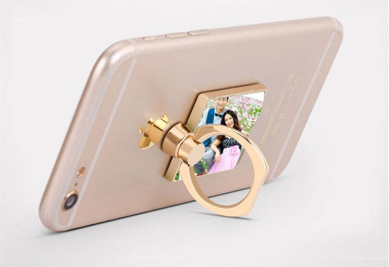 support de téléphone portable universel en métal pour la sublimation bricolage personnalisé personnalisé bouton vide de l'anneau pour iPhone pour Sumsung en gros