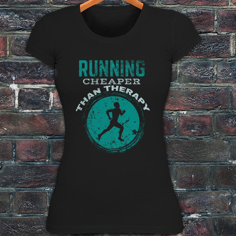 a3269c2216b 2019 RUNNING THERAPY GYM FITNESS EXCERSIZE RUNNER Womens Black T Shirt From  Shitan10