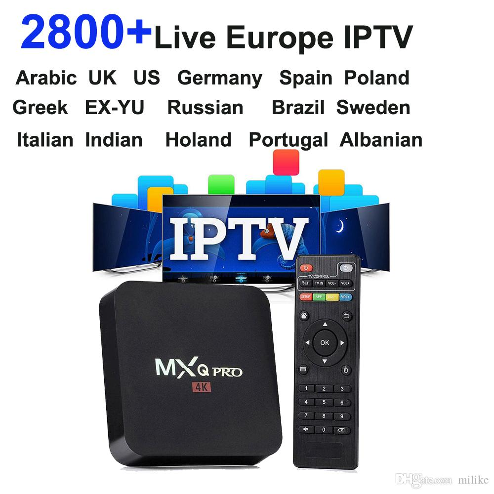 Android 6 0 tv box MXQ PRO APK IUDTV 1year European IPTV Account 2800  streaming channels French Sweden poland Greek Albania Holland turkey