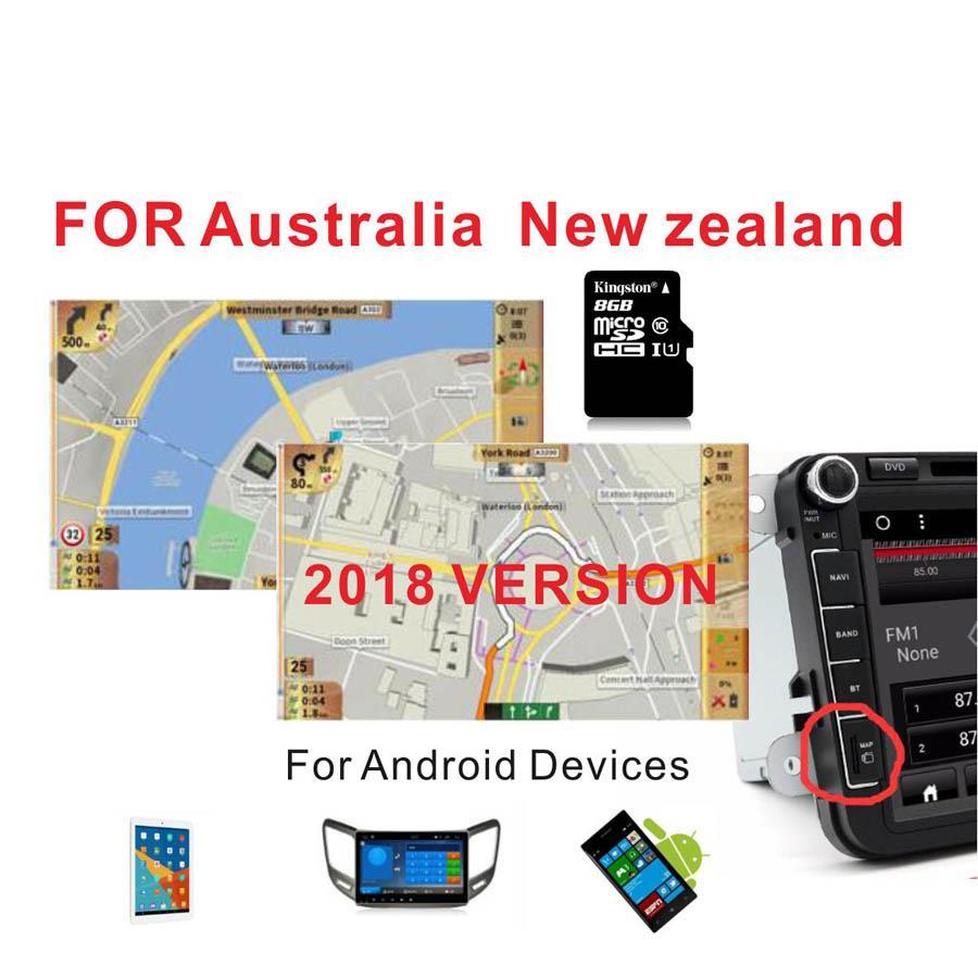 Carte Gps Australie.Acheter 2018 Version Australie Nouvelle Zelande Gps Map Avec Carte