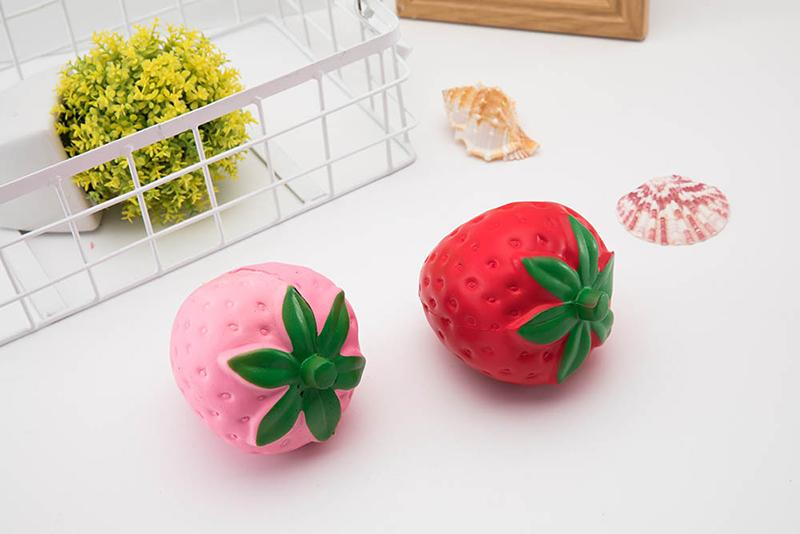 HOT Strawberry Fruit Shape Squishy Kawaii Toys Decompression Jumbo Colorful Slow Rising PU Squeeze Soft Kids Squishies STY033