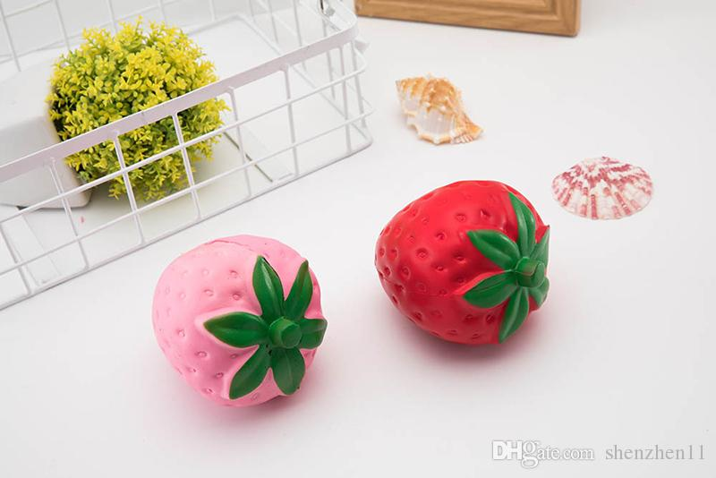 Горячая клубника фрукты форма Squishy Kawaii игрушки декомпрессии Jumbo красочные медленный рост PU Squeeze мягкие дети Squishies STY033