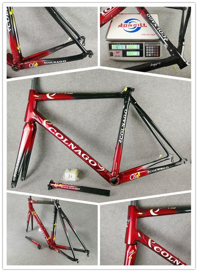 Cuadro De Carbono Rojo Marco Colnago C60 Bicicleta De Carretera ...