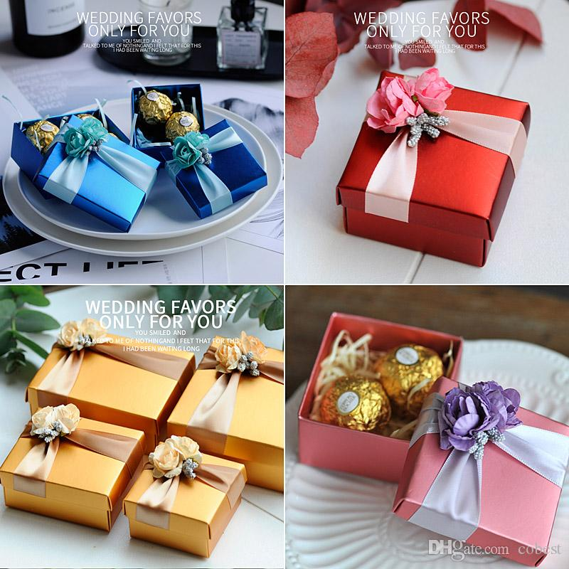 Wedding Favors Gift Boxes With Flowers Paper Wedding Favour