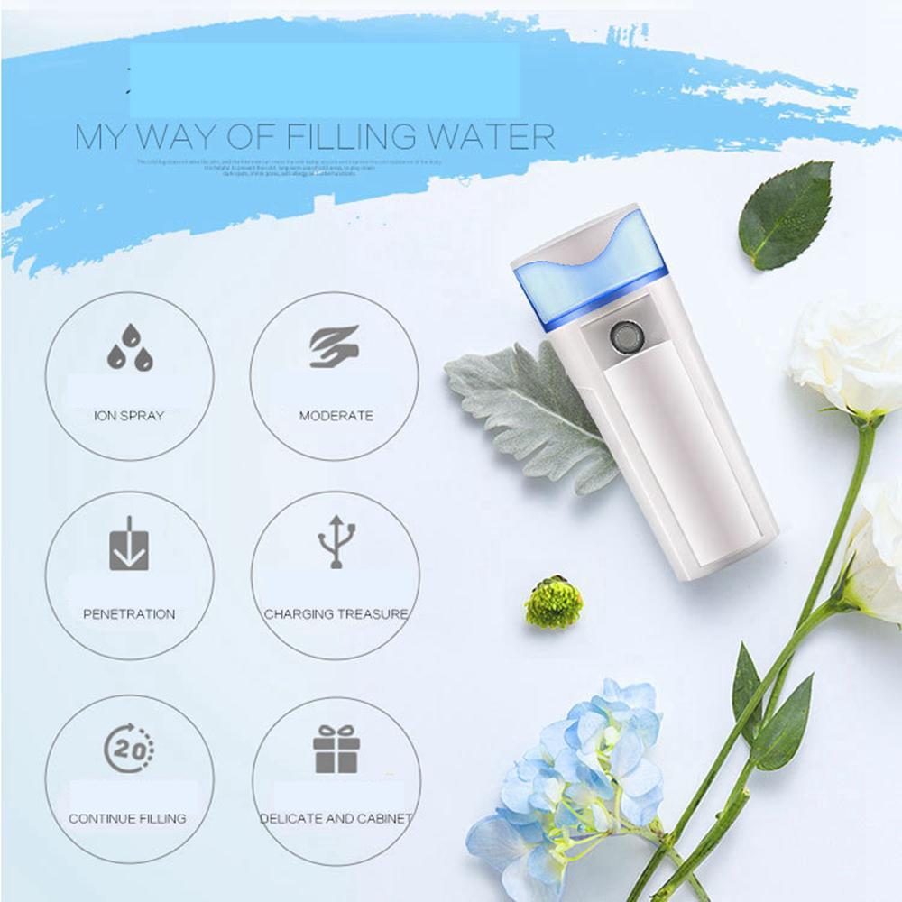 3 Cores Nano Rosto Rosto Spray De Água Facial Steamer Mister Pulverizador Recarregável Banco de Potência Equipamentos de Beleza Equipamentos de pulverização AAA307