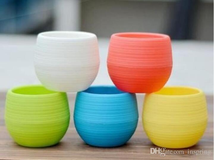0 45sj Colorful Mini Planter Pots Recycled Plastic Pot Perfect For Succulents Flowerpot Strong Reusable Plant Flower Herb Bed Flowerpots