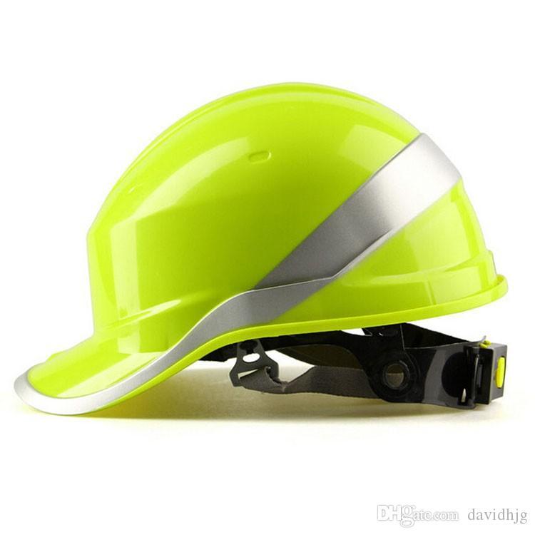 41ab5435ced45 Compre Logo De Impresión Gratuita Casco De Seguridad Casco De Trabajo  Sombrero ABS Material De Aislamiento Con Construcción De Raya De Fósforo  Proteger ...