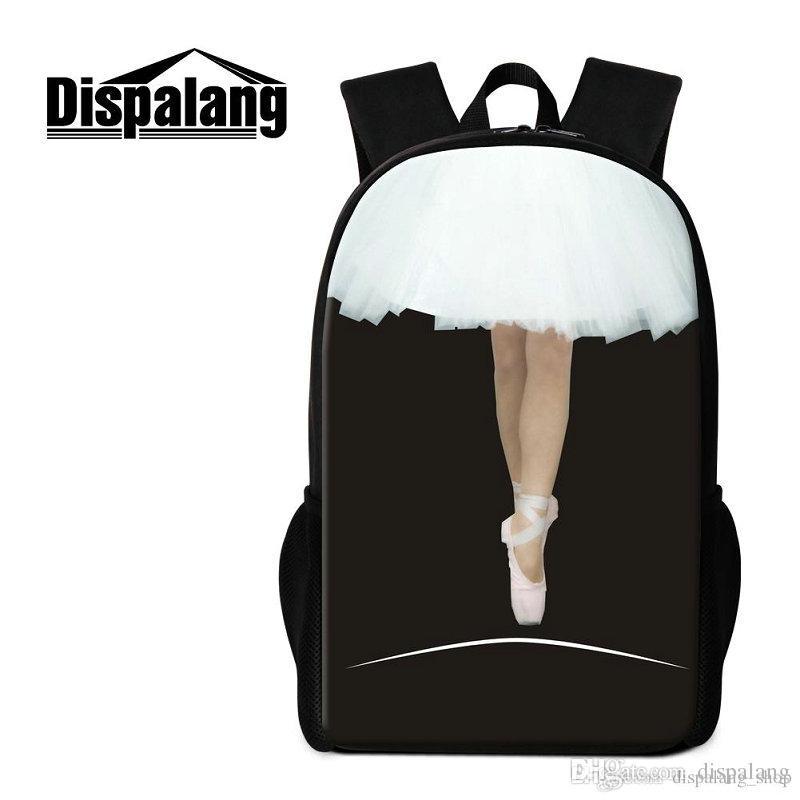 d12b2bf6873d Women s Travel Shoulder Bags Ballet Girl Printing School Backpack For  Children Ladies Daily Dapyack Mochilas Femininas Girls Lovely Bagpacks Backpack  School ...