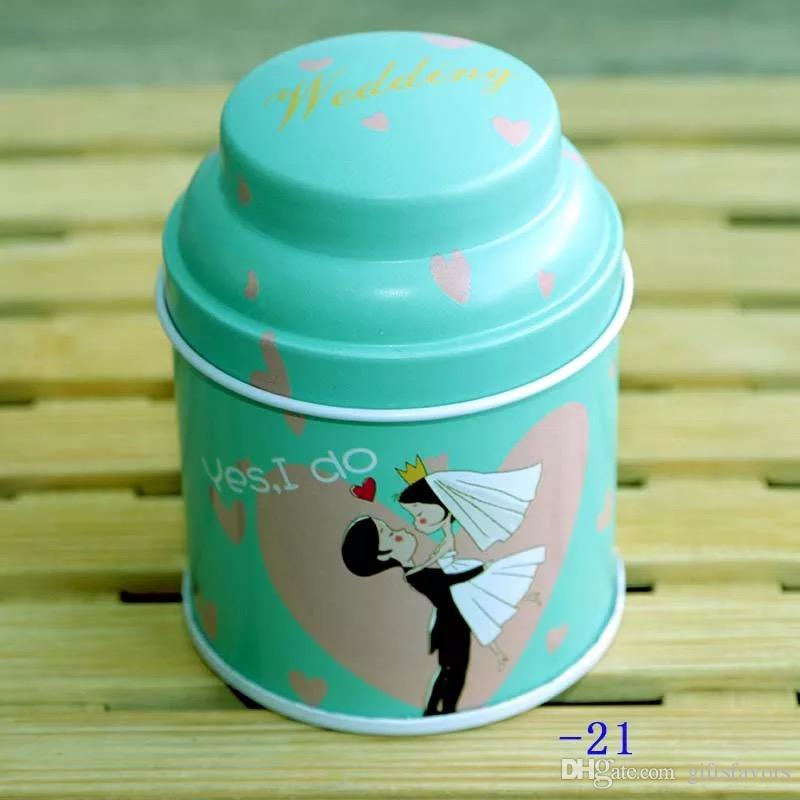 European style Flower Tea Tins Cans Wedding favor gifts container storage boxes wholesales